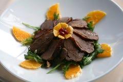Fette della carne dell'anatra Fotografia Stock