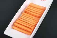 Fette della carota Immagine Stock