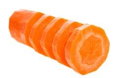 Fette della carota Fotografia Stock Libera da Diritti