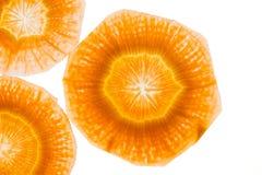 Fette della carota come struttura del fondo fotografia stock libera da diritti