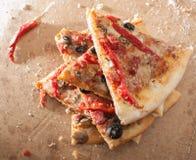 Fette della pizza immagini stock libere da diritti