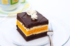 Fette della torta del pudding Fotografia Stock