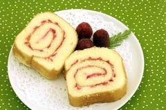 Fette della torta del rullo Immagine Stock