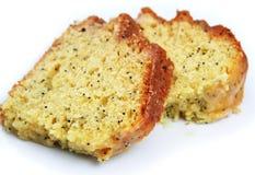Fette della torta del seme di papavero del limone Fotografia Stock Libera da Diritti