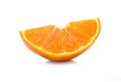 Fette di arancia su fondo bianco Immagini Stock Libere da Diritti