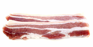 Fette di bacon fotografia stock
