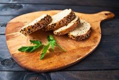 Fette di baguette casalinghe fresche Fotografia Stock