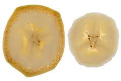 Fette di banana fotografie stock libere da diritti