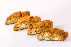 Fette di bisquits della mandorla Fotografia Stock Libera da Diritti