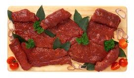 Fette di carne del cavallo Fotografia Stock