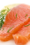 Fette di color salmone Fotografia Stock Libera da Diritti