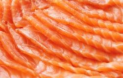 Fette di color salmone, primo piano Immagine Stock