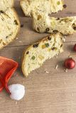 Fette di dessert italiano tradizionale di Natale immagini stock