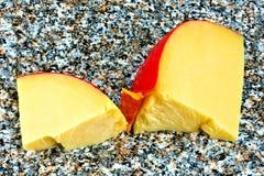 Fette di formaggio dell'edam Fotografia Stock Libera da Diritti