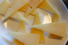 Fette di formaggio di capra fotografia stock