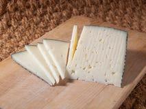 Fette di formaggio spagnolo immagine stock