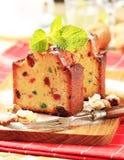 Fette di fruitcake immagini stock