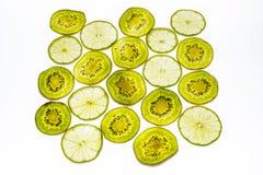 Fette di frutta di kiwi fresca Immagini Stock