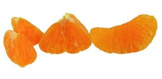 Fette di insieme del mandarino Fotografia Stock Libera da Diritti