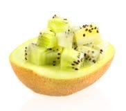Fette di kiwi su fondo bianco Fotografia Stock