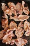 Fette di lardo di bacon arrostito delizioso Immagini Stock