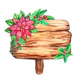 Fette di legno dell'acquerello isolate su fondo bianco royalty illustrazione gratis