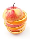Fette di mele e di aranci Fotografia Stock Libera da Diritti