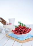 Fette di pancetta affumicata fotografie stock libere da diritti