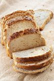 Fette di pane bianco Immagine Stock