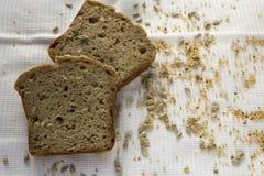 Fette di pane casalingo senza glutine Fotografia Stock