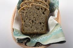 Fette di pane casalingo senza glutine Immagine Stock Libera da Diritti
