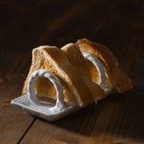 Fette di pane tostato Immagini Stock