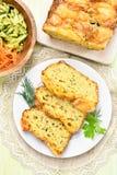 Fette di pane umido di verdure Immagini Stock Libere da Diritti