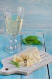 Fette di parmigiano Fotografia Stock