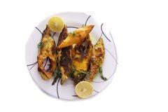 Fette di pesce dei pesci castagna Immagini Stock