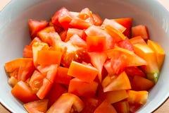 Fette di pomodoro in primo piano Immagine Stock