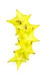 Fette di studio della carambola dello starfruit Fotografia Stock
