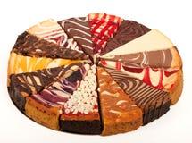 Fette di torta di formaggio Fotografia Stock
