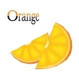 Fette di vettore di arancio Fotografia Stock Libera da Diritti