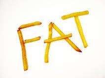 Fette Finger-Chips Lizenzfreies Stockbild