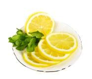 Fette fresche della frutta del limone Fotografie Stock Libere da Diritti