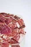 Fette iberiche del prosciutto Fotografie Stock