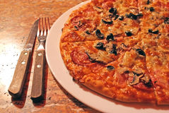 Fette italiane della pizza Immagini Stock