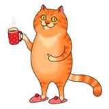 Fette Katze lizenzfreie abbildung