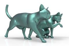 Fette Katze 3D Lizenzfreie Stockfotos