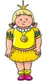 Fette kleine Prinzessin Lizenzfreie Stockfotos