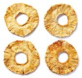 Fette liofilizzate dell'ananas immagine stock libera da diritti