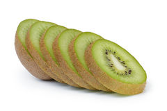 Fette mature fresche del kiwi Immagine Stock Libera da Diritti