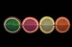 Fette multicolori dell'agrume immagini stock libere da diritti