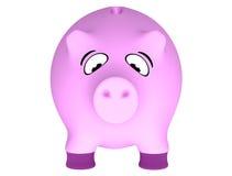 Fette Piggy Querneigung stockfotografie